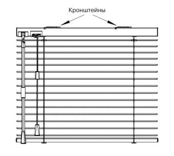 инструкция по монтажу горизонтальных жалюзи